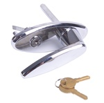 Garage door keyed locking l handle only
