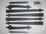 Garage door dummy strap style hinge kit