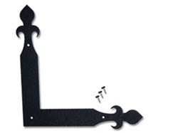 Fleur-de-Lis Corner Bracket Decorative Garage Door Hardware