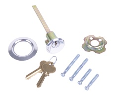 Garage door lock replacement keyed rim cylinder