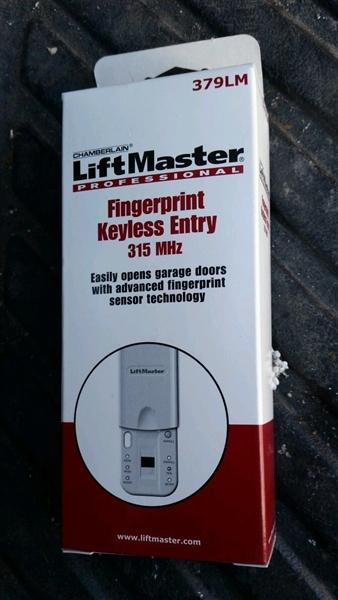 Liftmaster 379lm Fingerprint Keyless Entry Grage Door Opener