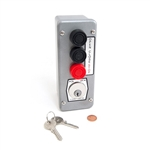 Commercial Garage Door Opener 3BLM Exterior Keyed Control Station