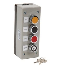 Commercial Garage Door Opener 3BXLT Exterior Keyed Control Station