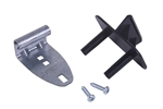 "Universal black step plate kit for 1-3/8"" to 2"" insulated garage doors"