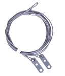 "Safety Cable Assembly, 1/8"" 7X7, 7' for 7' high torsion spring overhead doors"