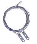 "Safety Cable Assembly, 1/8"" 7X7, 8' for 8' high torsion spring overhead doors"