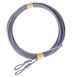 Garage Door Cable set for 7' high extension spring doors