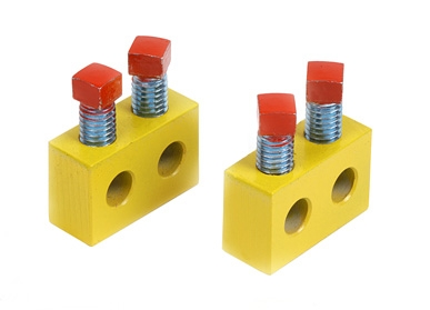 Yellow Garage Door Spring Repair Blocks