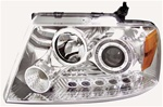 2004-2008 Ford F-150 Headlights with Halo LED, Chrome, by AnzoUSA