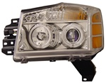 2004-2007 Nissan Titan Halo Headlights, Chrome, by AnzoUSA