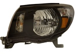 2005-2008 Toyota Tacoma Chrystal Headlights, Black, by AnzoUSA