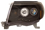 2005-2008 Toyota Tacoma Headlights, Black, by AnzoUSA