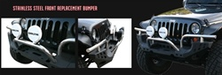 07-11 Jeep JK Wrangler Front Winch Bumper By Aries Offroad