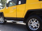 FJ Cruiser Side Bars by Aries - Oval Black Powder Coat