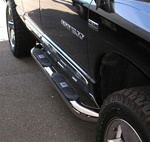 "Ram Big Step 4"" Round Stainless Side Bars by Aries"
