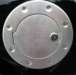 Hummer H3 Brushed Aluminum Fuel Door by Aries Offroad