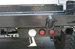 '97-'11 Jeep Wrangler Rear Ground Bar 5-Functions - Stop/Turn / Backup + Backup Sensors & Camera By Delta DEL-01-9585-CAS