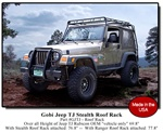 Jeep Wrangler TJ Stealth Safari Roof Rack by Gobi