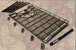 Hummer H1 Roof Rack W/Tire Carrier By Gobi