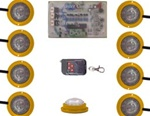Rock Light and Undercarriage Lighting 8 Light LED Strobe Kit by Vision X