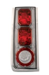 H2 Crystal Clear Tail Light w/ Platinum Smoke by IPCW