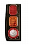 H2 LED Crystal Clear Tail Light w/ Black with Red Cap by IPCW