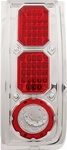 H2 LED Crystal Clear Tail Light w/ Chrome by IPCW