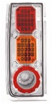 H2 LED Crystal Clear Tail Light w/ Chrome with Amber Cap by IPCW