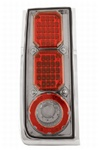 H2 LED Crystal Clear Tail Light w/ Chrome Smoke by IPCW