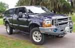 N-Fab's Wheel-to-Wheel Nerf Steps for '99-'09 Ford F250/F350 Quad Cab Short Bed