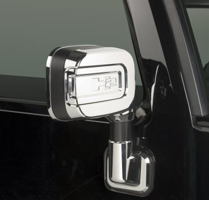 H2 Sut Side Mirrors Cover Kit By Putco