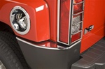 H3 ABS Chrome Rear Bumper Covers by Putco