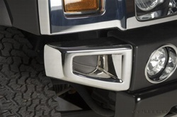 H3 ABS Chrome Front Bumper Corners by Putco