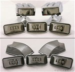 H2/SUT LED Roof Marker Lamps Front - Ion Chrome by Putco