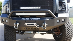 '11-'13 Ford Superduty Front Stealth Winch Bumper with Square Light mounts and Pre-Runner Guard RA-611R4