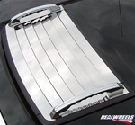 H3 Deluxe Grille Overlay with B.A. Grooved Hood Handles By Realwheels