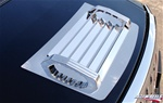 HUMMER H2 1-Piece Stainless Steel Top Grille W/ Billet Aluminum Handles By Realwheels (Replacement Grille)