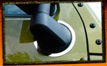 Wrangler Stainless Steel Side Mirror Bezels by RealWheels
