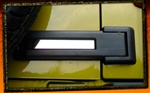 Jeep Wrangler JK Stainless Steel Rear Door Hinge Covers by RealWheels