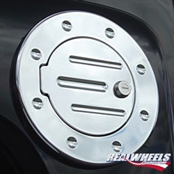 H3 Grooved Billet Aluminum Fuel Door by RealWheels