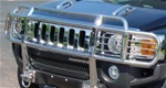 HUMMER H3/H3T Double-Tier Brush Guard With Inserts Stainless Steel by RealWheels