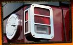 Jeep Wrangler JK Stainless Steel Tail Light Armor by RealWheels