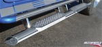 HUMMER H2 Straight Tube W/ Stainless Steel Step, Upper Tube Façade by RealWheels