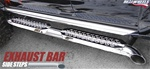 HUMMER H3 Exhaust Bar Side Steps without sports rails - With Rails by RealWheels