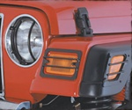 Jeep Wrangler TJ 1997-2006 Euro Turn Signal Covers, 4-Piece, Side Markers Included
