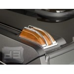SUV/SUT ABS Chrome Corner Roof Light Covers (4 pcs.) TEAKA-82104