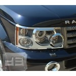 ABS Chrome Head Light Covers TEAKA-99106