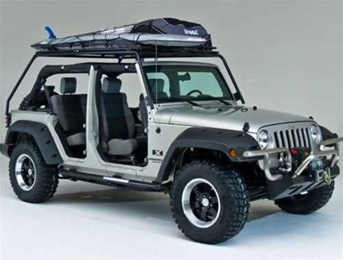 jkrack jk jeep rack wrangler garvin unlimited roof racks