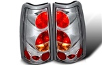 99-06 Chevy Silverado Altezza Tail Light, Chrome/Clear, by Winjet