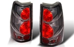 99-06 Chevy Silverado Altezza Tail Light, Chrome/Smoke, by Winjet